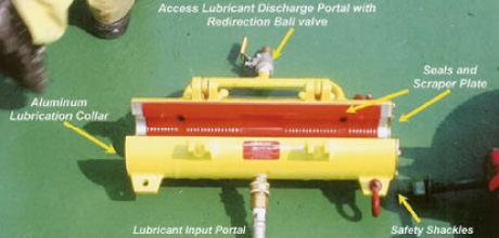 Wire Rope Cleaner and Lubricator System